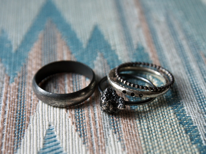 handmade wedding ring set