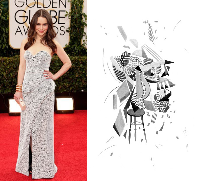 Who Are You Pairing? 2014 Golden Globes: Emilia Clarke and Lilli Carré