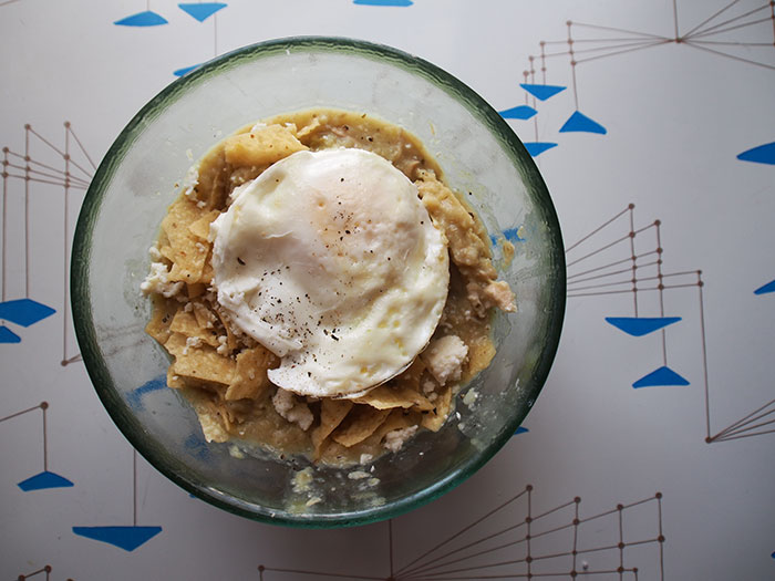 Chilaquiles in Bowl