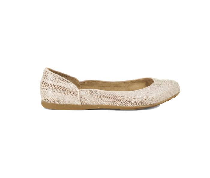 Westervin Sponsor: Blake Brody Ballet Flat in Nude Faux Lizard Skin
