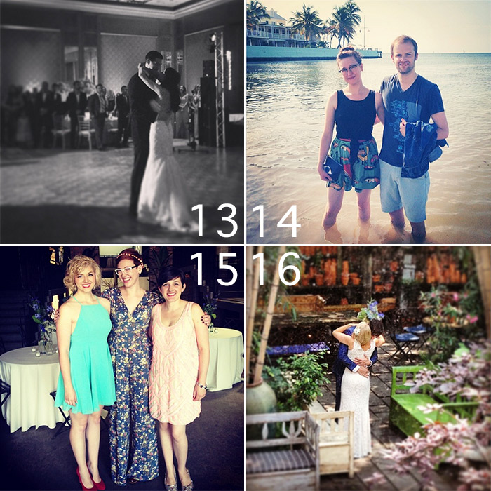 Brian West and Sarah Ervin attend the weddings of Sarah and Patrick Staub; Carolyn Sybesma and Ali Porter