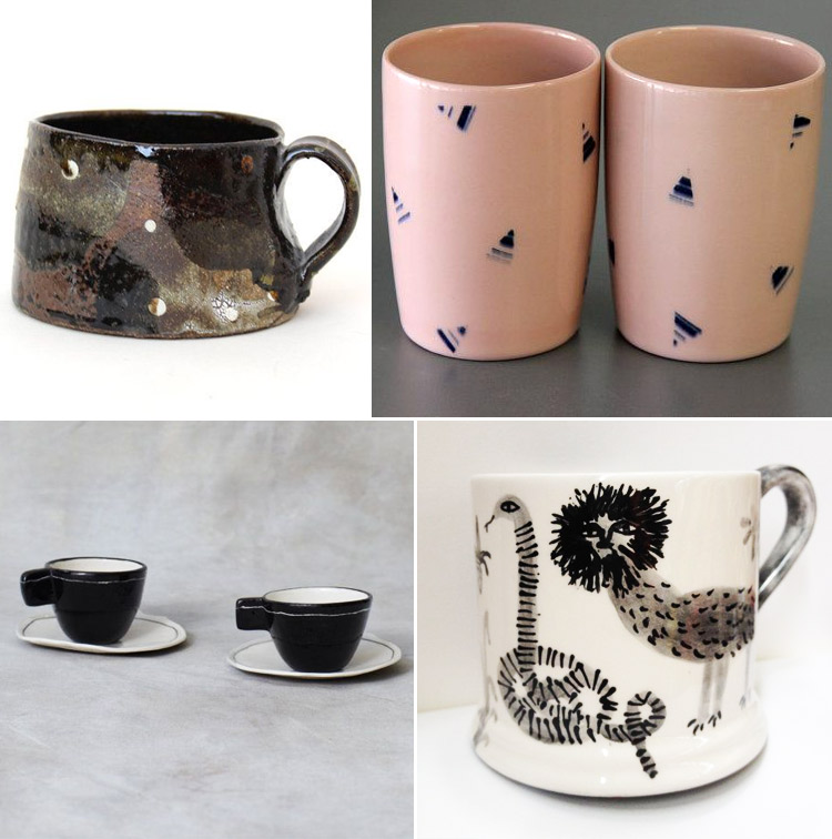 Westervin Roundup: handmade mugs from Jake Vinson, Meilen Collaborative, Tabby Both, and BTW Ceramics