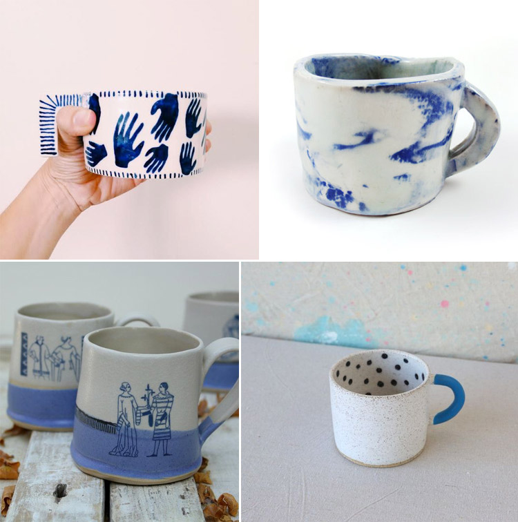 Westervin Roundup: handmade mugs from  Self Press Studio, Leah Ball, Laurie Goldstein, and Recreation Center Ceramics