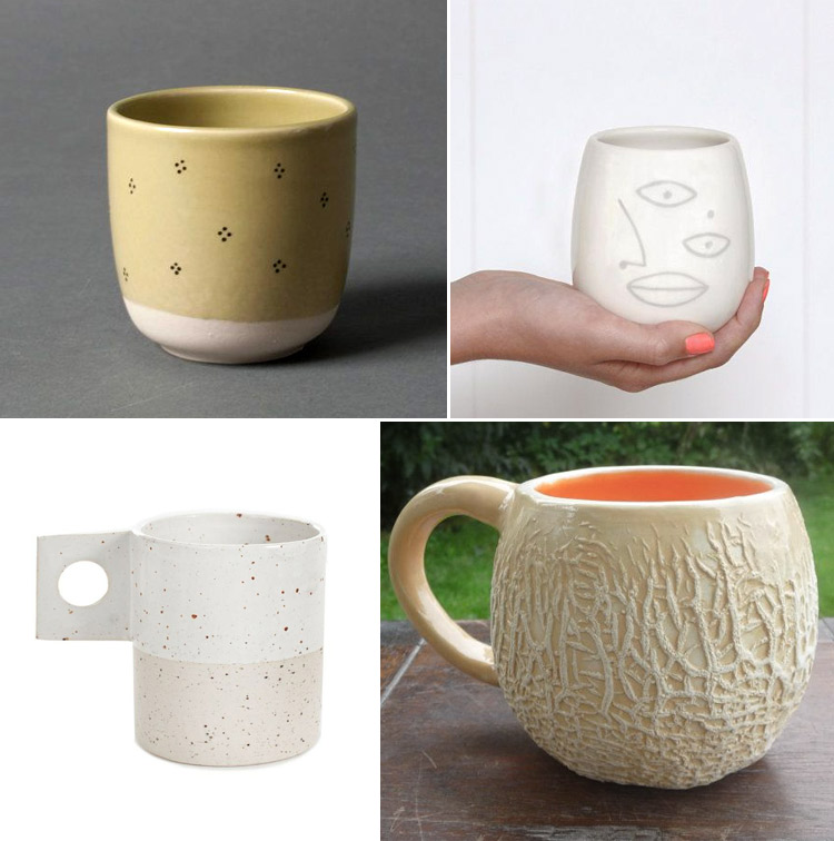 Wester Roundup: handmade mugs from Eeli Art Studio, Pigeon Toe Ceramics, Vegetabowls, Connie Licthi