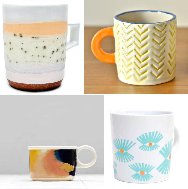 Westervin Roundup: handmade mugs from Ben Feiss, Jenn Erickson, Xenia Taler, and Red Raven Studios