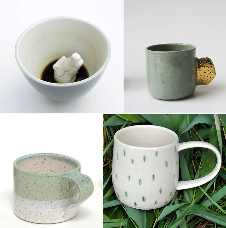 Westervin Roundup: handmade mugs from Creature Cups, Bridget Bodenham, Covet & Ginger, and Dahlhaus