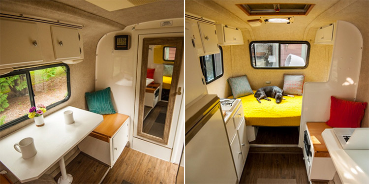 interior redesign of the DesignEgg scamp trailer
