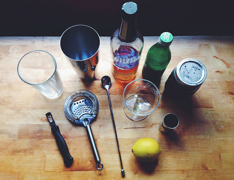 What you'll need for The Supreme cocktail {Westervin Blog}