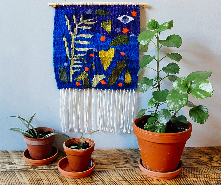 """Observing Growth"" tapestry wall hanging by Liz Toohey-Wiese"