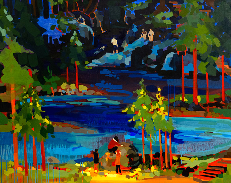 """Thirty Foot Pool"" painting by Liz Toohey-Wiese"