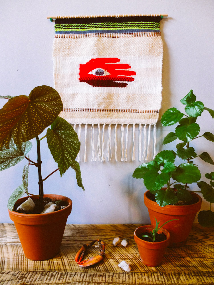 """Holding Sight"" tapestry wall hanging by Liz Toohey-Wiese"