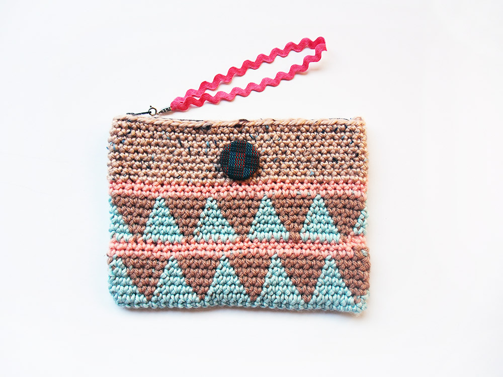 Triangle Crochet Wristlet by Westervin
