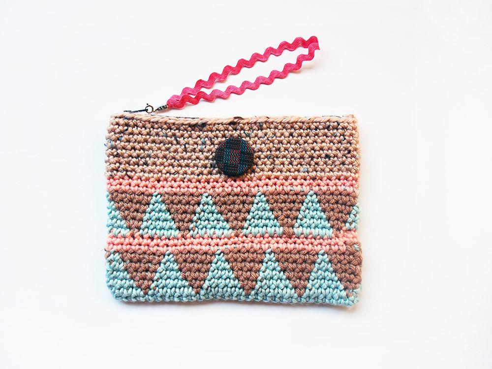Triangle Crochet Wristlet by Westervin