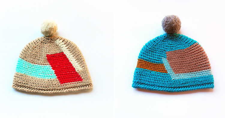 Cubist Crochet Pom-Pom Hats by Westervin