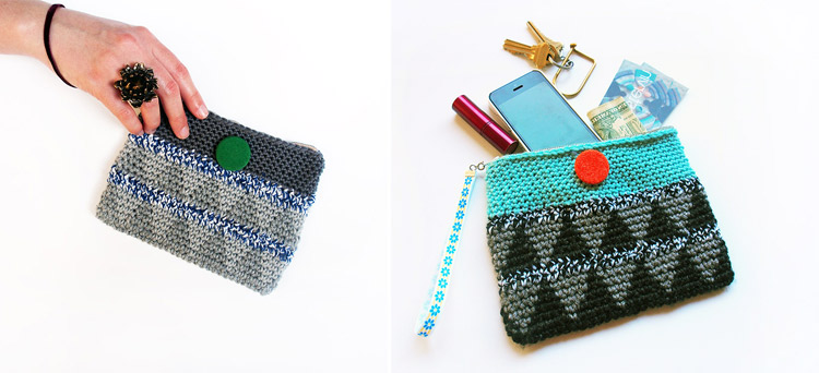 Triangle Crochet Wristlets by Westervin