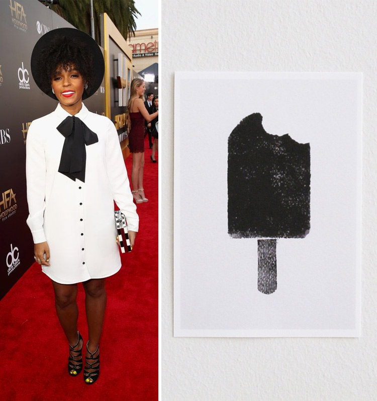 Janelle Monae at the 2014 Hollywood Film Awards and Olga