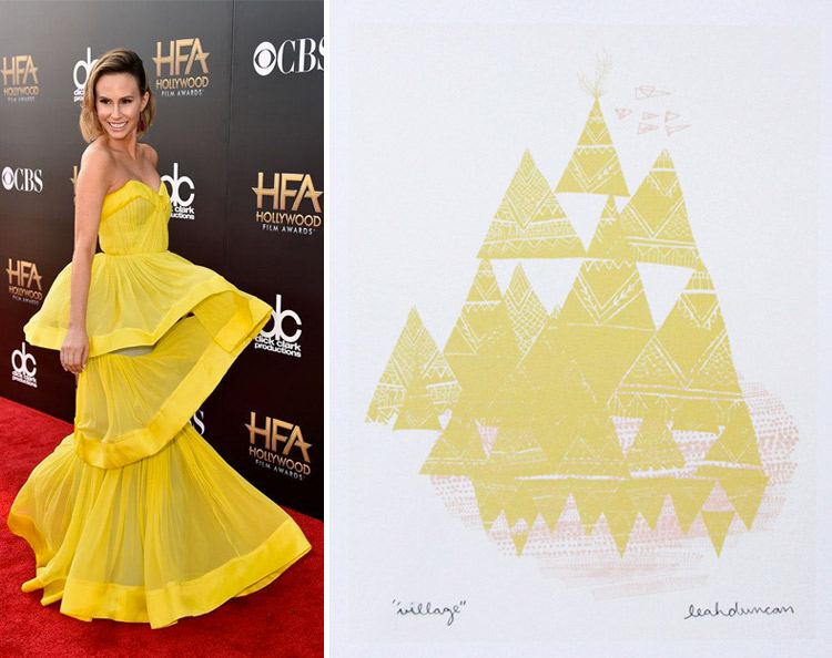 Keltie Knight at the 2014 Hollywood Film Awards and Leah Duncan