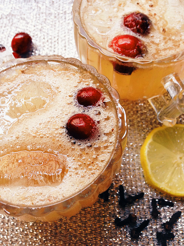 Bourbon Cran-Peary Sparkler - perfect for New Year's Eve