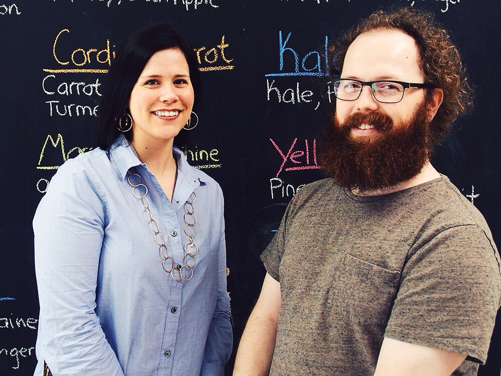 Jessica and Brandon Parker, owners of Carrot Dirt Organics, Inc. in Fort Smith, Arkansas