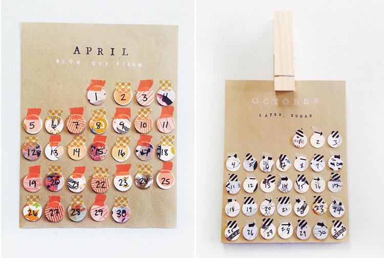 the world's easiest DIY calendar