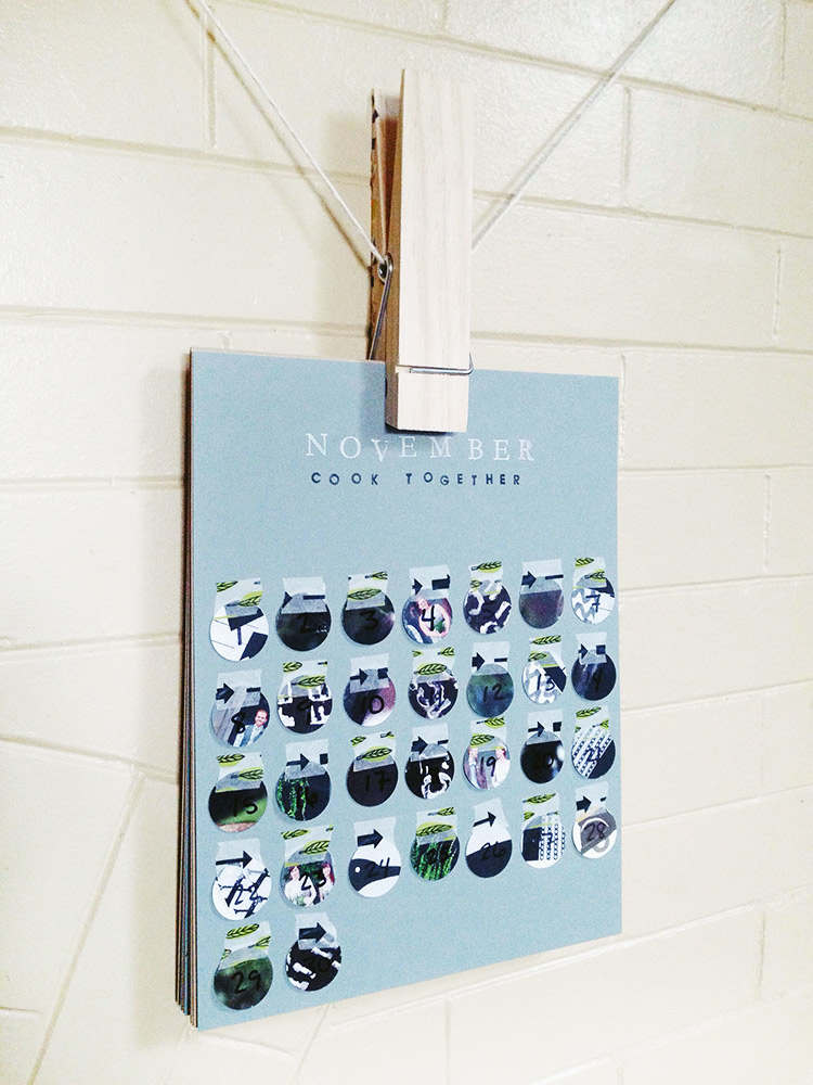 hang a DIY calendar with an inexpensive jumbo clothespin