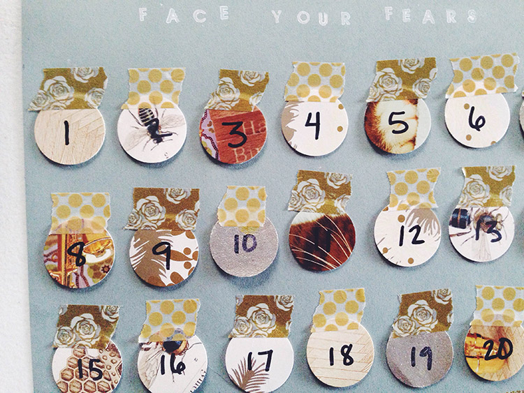 stamp your new year's resolutions on a simple DIY calendar