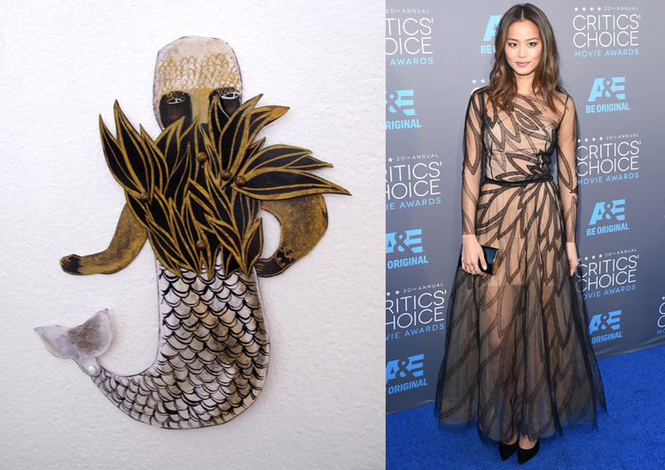 Strange Fish by Emma Kidd; Jamie Chung at the 2015 Critics' Choice Awards