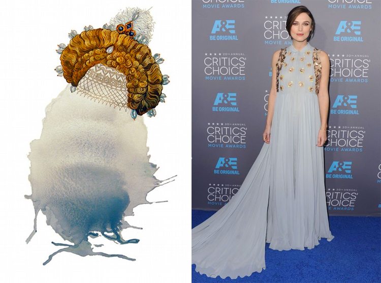 The Milkmaid's Lot by Lauren Frances Adams; Keira Knightly at the 2015 Critics' Choice Awards