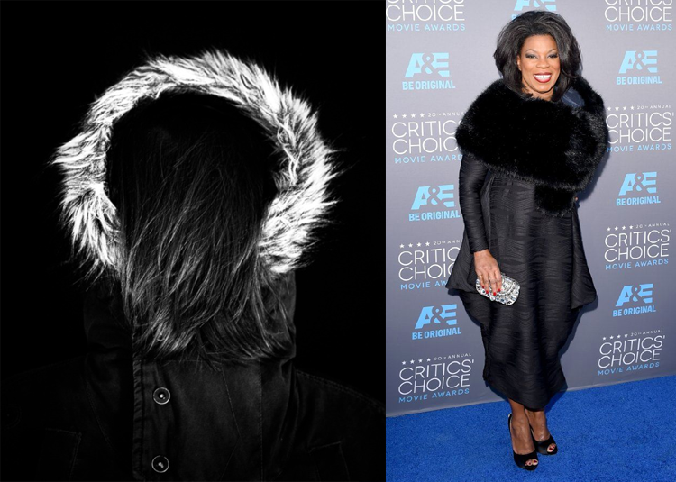 Around the fur by Andreas Niederwieser; Lorraine Toussaint at the 2015 Critics' Choice Awards