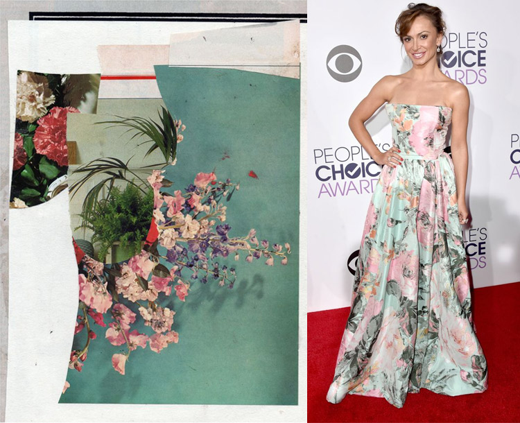 Untitled by Eva Vermeiren; Karina Smirnoff at the 41st Annual People's Choice Awards Red Carpet