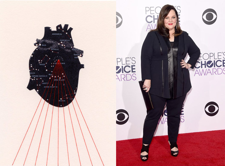 Universe Within by Shannon Rankin; Melissa McCarthy at the 41st Annual People's Choice Awards Red Carpet