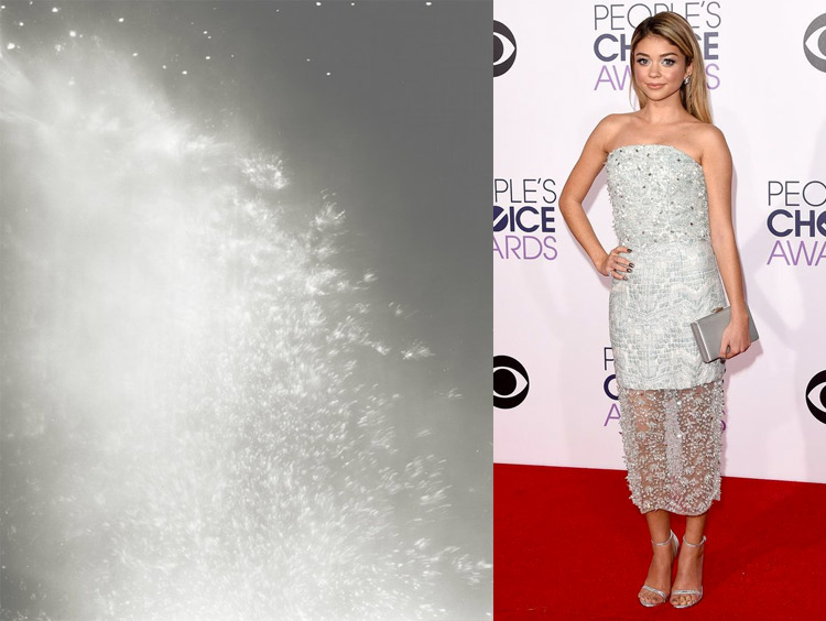 Throw 5031 by Tealia Ellis Ritter; Sarah Hyland at the 41st Annual People's Choice Awards Red Carpet