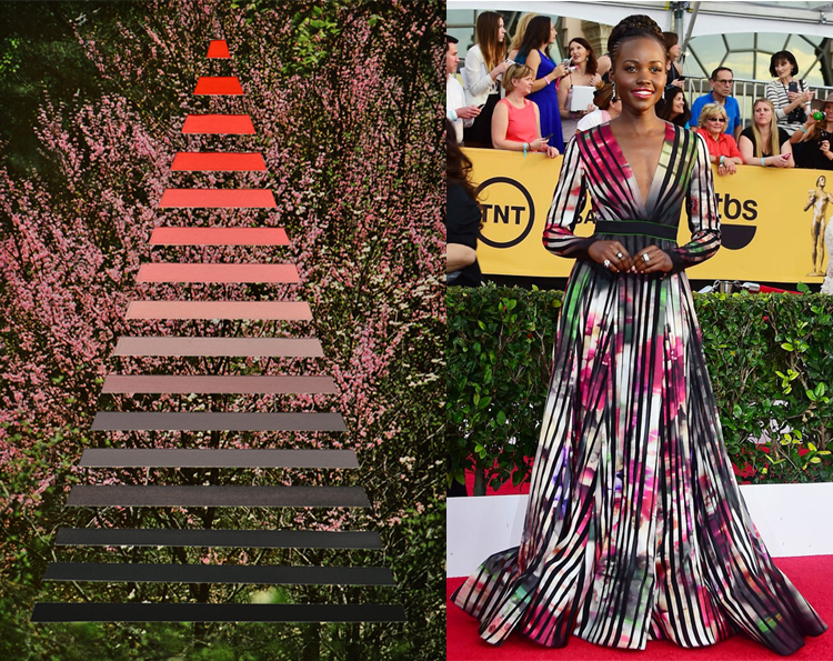 Stairway by Denton Crawford; Lupita Nyong'o at the 21st Annual Screen Actors Guild Awards