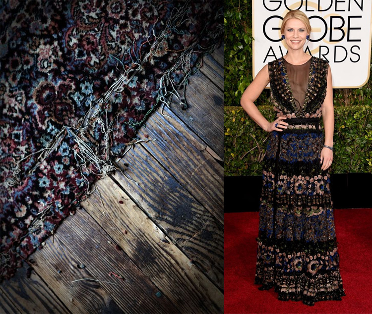 Photography by Katie Kukulka; Claire Danes at the 72nd Annual Golden Globe Awards