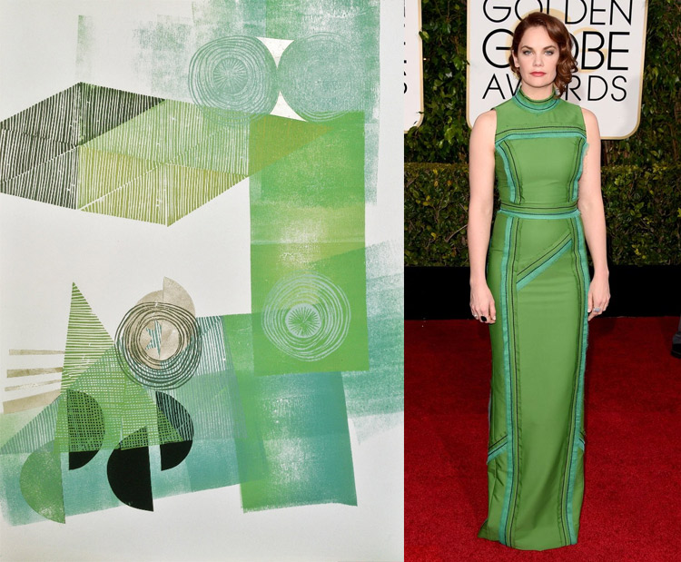 Shadow in the Still Air by Valeria Kondor; Ruth Wilson at the 72nd Annual Golden Globe Awards