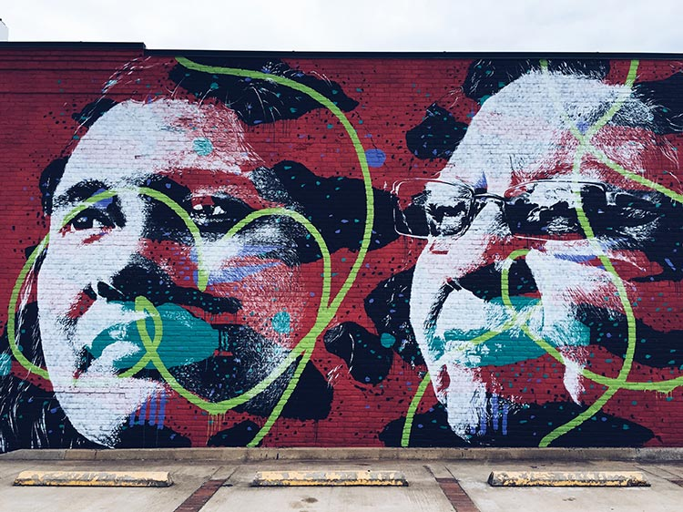 mural by Askew in Fort Smith, AR