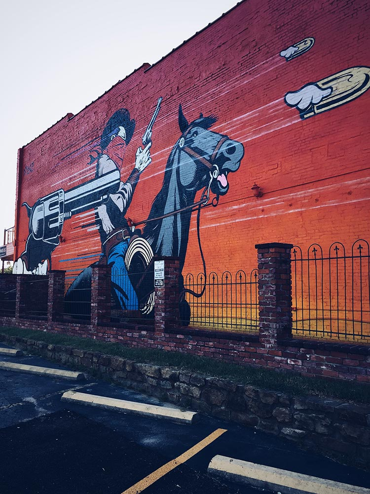 D*Face mural in Fort Smith, AR