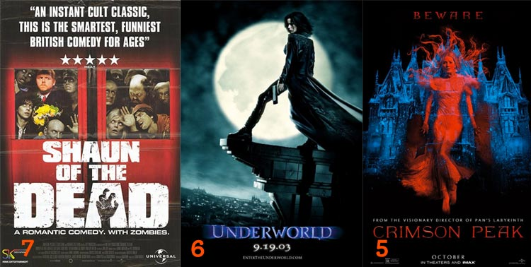 Westermonth Hallowatch 2015: Shaun of the Dead, Underworld, and Crimson Peak